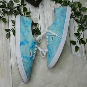 Vans Marble Light baby blue turquoise sneakers